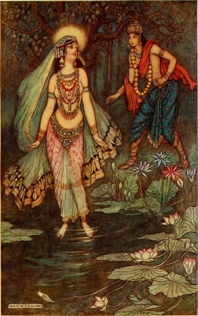 Shantanu_Meets_Goddess_Ganga_by_Warivick_Goble